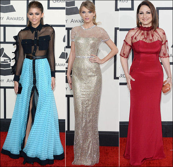 grammys red carpet dresses fashion 2014 taylor swift