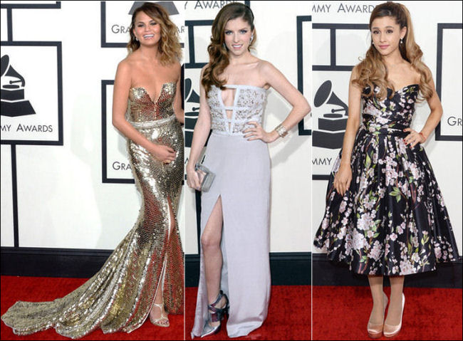 grammys red carpet dresses fashion 2014 strapless
