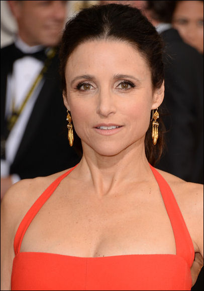 julia louis dreyfus makeup golden globes red carpet 2014