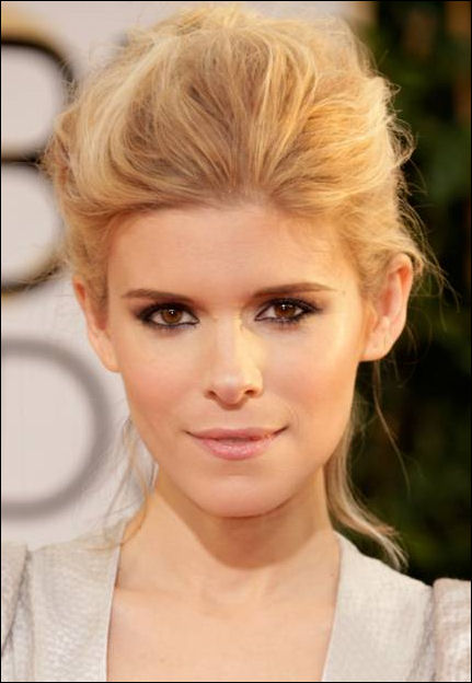 kate mara makeup golden globes red carpet 2014