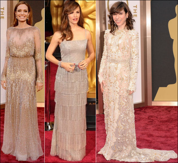 oscars 2014 red carpet dresses angelina jolie shimmer