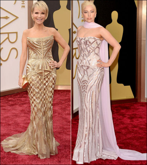 oscars 2014 red carpet dresses lady gaga kristen chenoweth