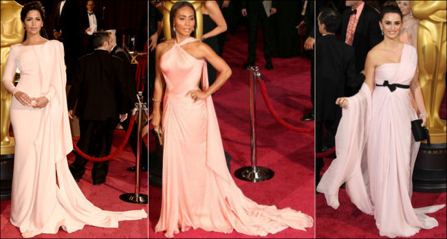 oscars 2014 red carpet dresses pink