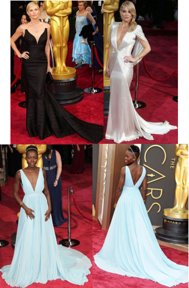 oscars 2014 red carpet dresses lupita nyong'o charlize theron kate hudson