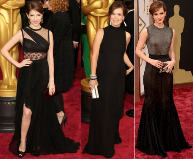 oscars 2014 red carpet dresses anna kendrick olivia wilde