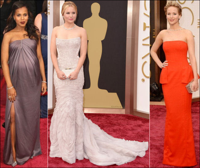 oscars 2014 red carpet dresses kerry washington jennifer lawrence