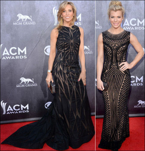2014 acm awards red carpet dresses black sleeveless