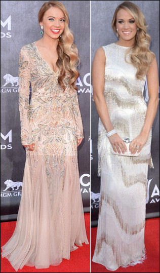 2014 acm awards red carpet dresses carrie underwood