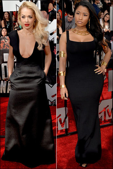 2014 mtv movie awards red carpet fashion rita ora nicki minaj