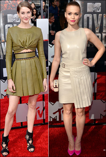 2014 mtv movie awards red carpet fashion shailene woodley holland roden