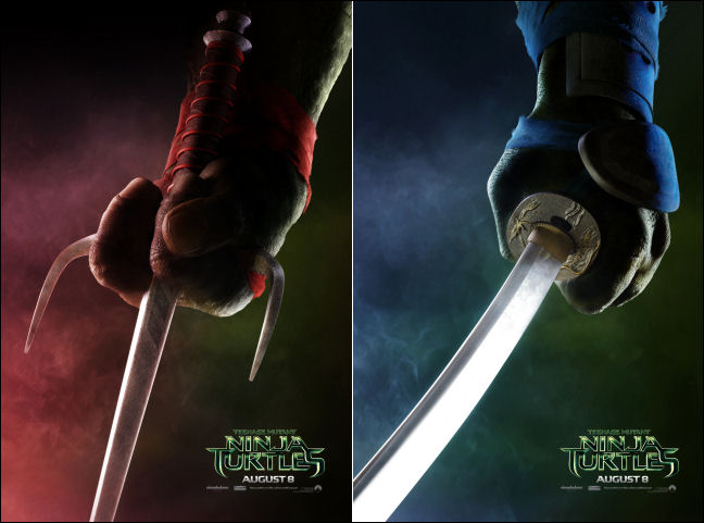 tmnt movie poster weapons raphael leonardo