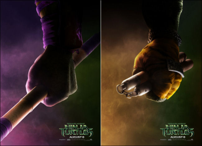 tmnt movie poster weapons donatello michaelangelo