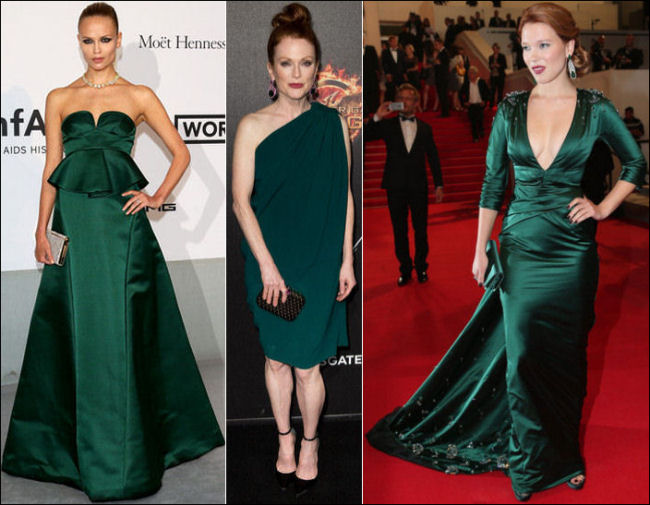 2014 cannes red carpet dresses fashion green