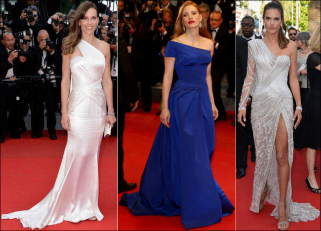 2014 cannes red carpet dresses fashion one shoulder