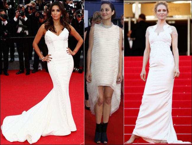 2014 cannes red carpet dresses fashion white lwds