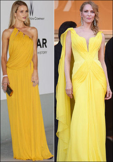 2014 cannes red carpet dresses fashion yellow