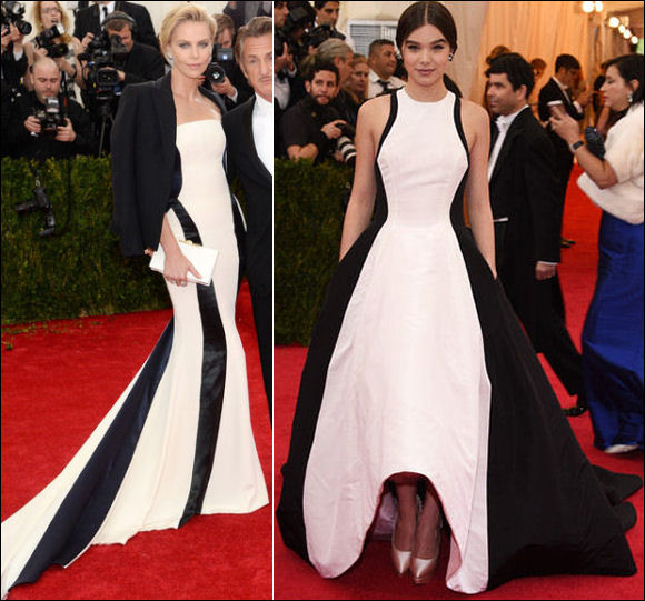 2014 met gala fashion dresses charlize theron hailee steinfeld