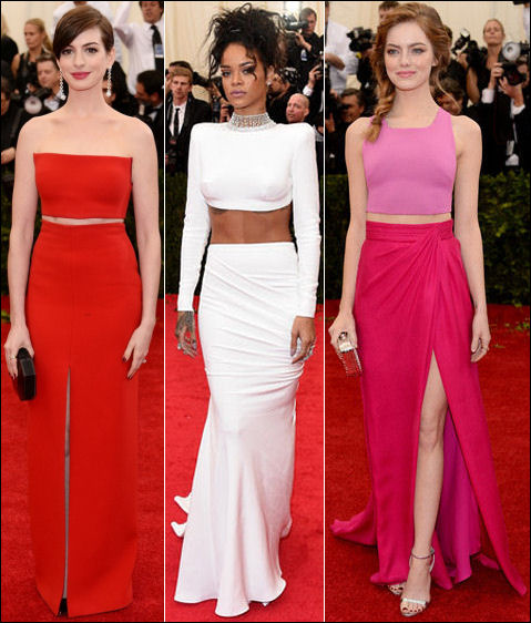 2014 met gala fashion dresses cropped