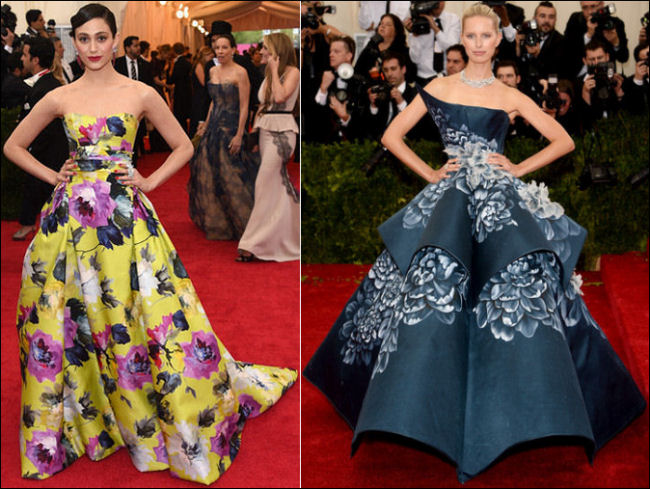2014 met gala fashion dresses flower prints florals