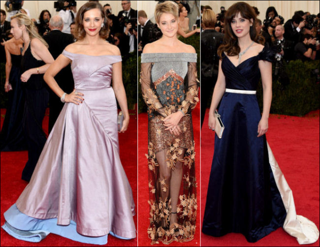 2014 met gala fashion dresses off the shoulder