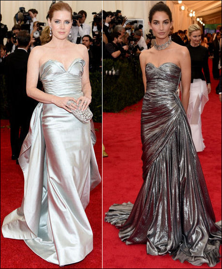 2014 met gala fashion dresses silver
