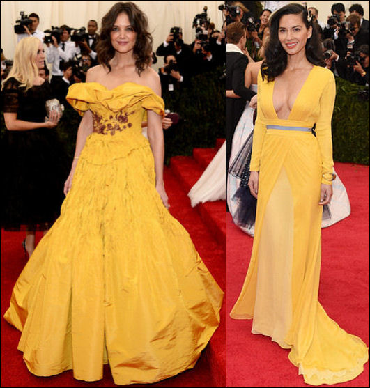 2014 met gala fashion dresses yellow