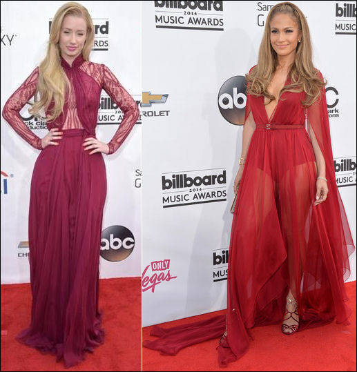 billboard music awards red carpet dresses 2014 iggy azalea jennifer lopez