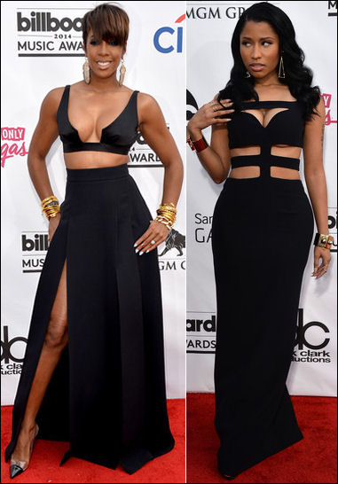 billboard music awards red carpet dresses 2014 kelly rowland nicki minaj