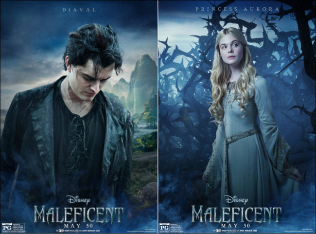 maleficent movie posters princess aurora diaval