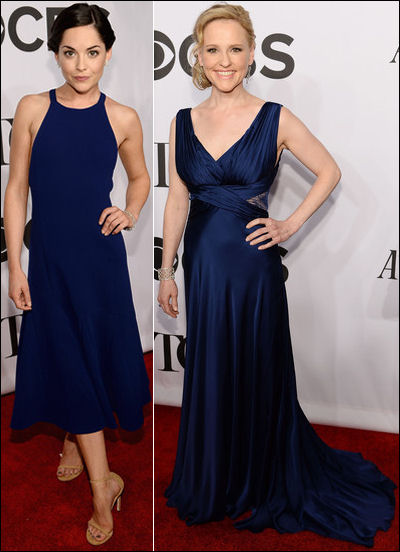 2014 tony awards red carpet dresses blues