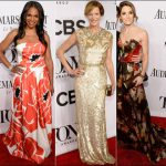 2014 tony awards red carpet dresses flower prints florals