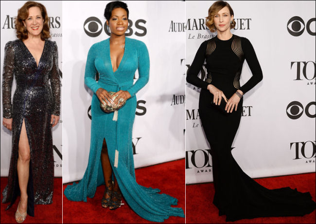 2014 tony awards red carpet dresses long sleeves