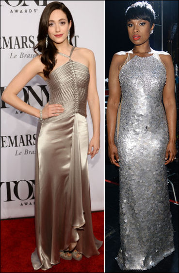 2014 tony awards red carpet dresses silver