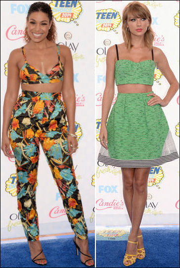 2014 teen choice awards fashion style crop tops taylor swift