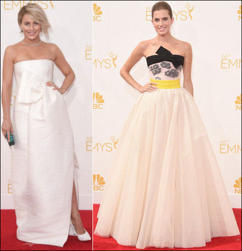 emmys 2014 red carpet dresses fashion bows
