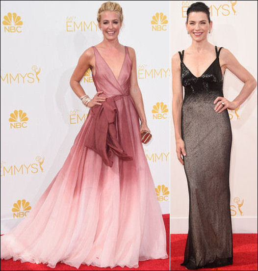 emmys 2014 red carpet dresses fashion color bleed