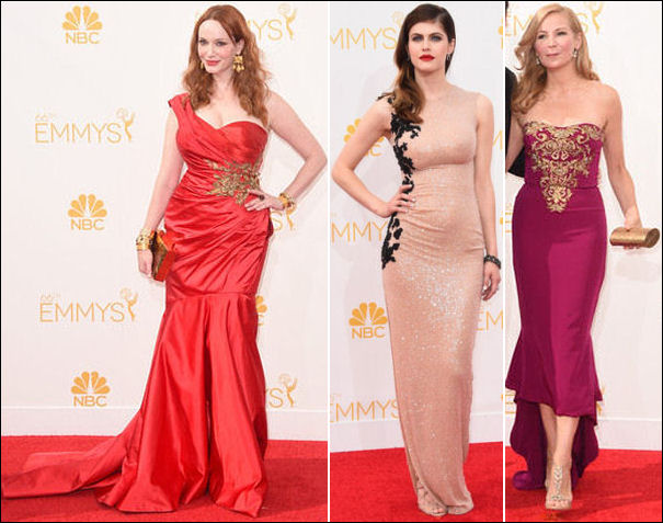 emmys 2014 red carpet dresses fashion embroidered