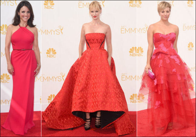emmys awards 2014 red carpet red dresses fashion