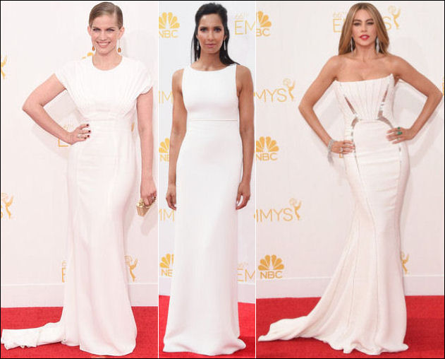 2014 emmys awards red carpet white dresses fashion