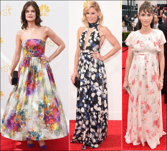 emmys 2014 red carpet dresses fashion flower print florals