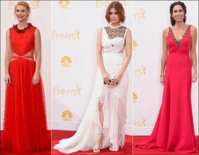 emmys 2014 red carpet dresses fashion necklines
