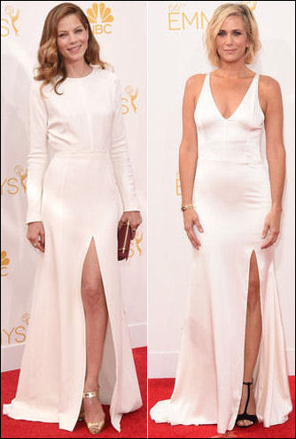 emmys 2014 red carpet white dresses fashion side slit