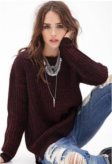 2014 fall fashion trends oversized sweater forever 21