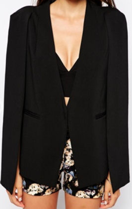 cape blazer asos black