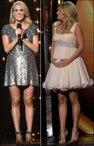 cma awards 2014 carrie underwood dresses style pregnant
