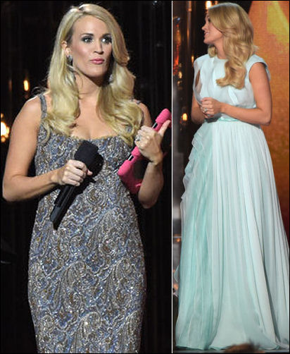 cma awards 2014 carrie underwood dresses style pregnancy gowns