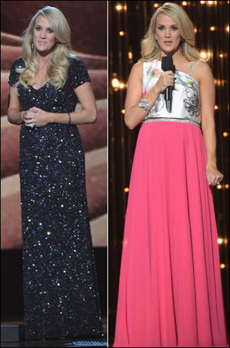 cma awards 2014 carrie underwood dresses style theia gowns
