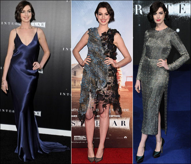 interstellar movie red carpet dresses