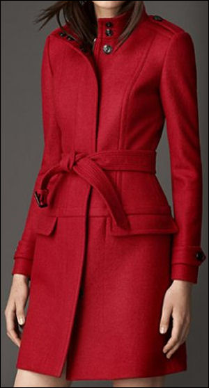 robe coats 2014 fall fashion trends red