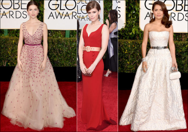 2015 golden globes red carpet dresses fashion belts